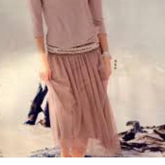b377ac4185 Garnet Hill Skirts | Nwot Blush Prima Tulle Skirt | Poshmark